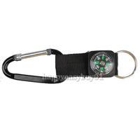 Hiking Camping Aluminum Clasp Carabiner Compass 2Pcs H1E1