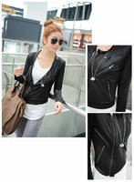 2013 Fashion Women Snake Print Faux Leather Casual Jackets Outerwear Thin Jacket