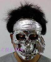 Hot-sell free shipping Mask  plating  skull   mask  Cosplay costume macka mascara Halloween Masquerade maske maska