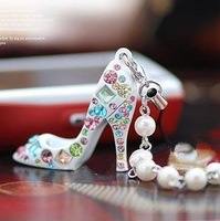 Imixbox high-heeled shoes keychain lovers male women's fashion key ring chain