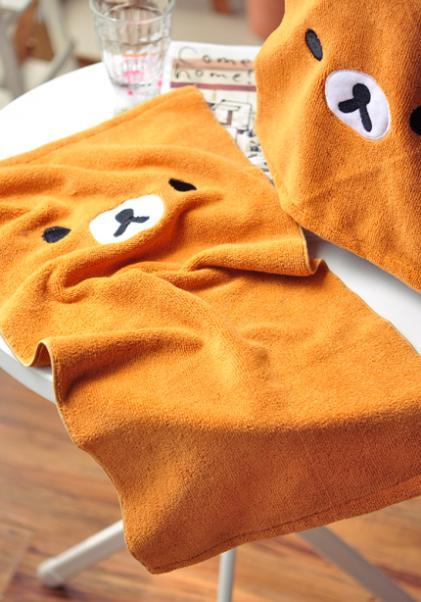 59 * 29cm Rilakkuma Rilakkuma Towel Toiletries lovely home supplies Christmas gifts Free shipping(China (Mainland))