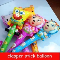 Novelty Cartoon Cheering Stick Balloons 80CM Mixed Clapper Cartoon Balloons Inflatable Normal Air