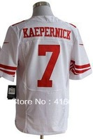 50TH Patch San Francisco 7 Colin Kaepernick White Hall of Fame 27s 50TH Patch Elite Football Jerseys