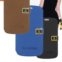 Luxury D Magnetic Buckle PU Flip Cover Card Wallet Leather Case for samsung galaxy s3 i9300
