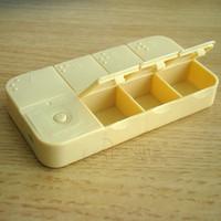 12pcs/lot storage case for medicine box Key intelligent e-kit portable pyxides 8 yellow  pill timer dispenser