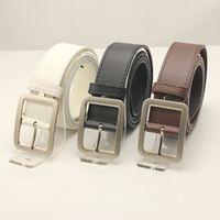 New Fashion Belt Mans PU Leather Belt  Man Waist Garment Jeans Gardget Buckle Belts  2002 Free Drop Shipping