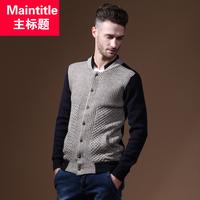 Autumn wool male personality male sweater slim cardigan sweater men outerwear man