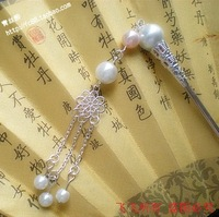 Classical pearl hair stick tassel costume hair accessory 1052