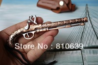 "5.0"" Vintage Handgun Pistol Gun Model Keychain Pendant The Best Product in The World Pirate Hand gun Collection Gift"