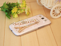 Bling Crystal Diamond Case for Samsung Galaxy S3 SIII i9300 with Bling Paris Eiffel Tower and flowers