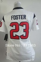 Free Shipping Cheap Jerseys - #23 Arian Foster White Red Limited Lady Jersey American Football Jerseys Best