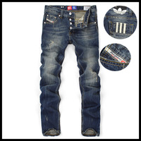 Free delivery!Hot!2013 men's jeans with high quality free shipping straight relaxed Button Fly jeans -9003