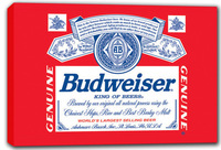 scrb317 Budweiser Beer Bar Stretched Canvas Print Decor Sign