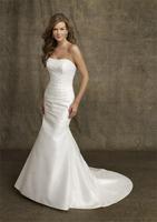 2014 short trailing princess tube top slim hip fish tail wedding dress