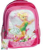 60pcs/lot Fashion Tinker Bell Children School Bag for girls Cartoon School Backpack Rucksack Canves A2996 Free Shipping Via DHL