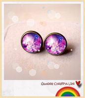 Hot  Sale   (30 pair /lot) Symphony series 9 vintage the time gem stud earring earrings 052