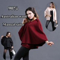 LUXURY wool poncho cloak cape coat designer top fashion Woolen outerwear coats new 2013 winter autumn women's ponches and capes