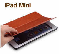 Free Shipping 0.11KG 8Colors Luxury Leather case for iPad Mini Ultra Thin Retro Fashion Smart Cover with Stand Magnetic