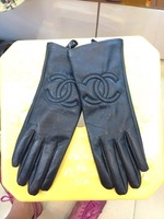 New Style 2013 Famous C Brand  Genuine Leather Gloves  For Women
