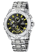 Festina Uhr Multifunktion Herren-Armbanduhr Chronograph New Quartz Steel Strip F16525/3