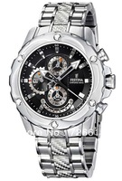 Festina Uhr Multifunktion Herren-Armbanduhr Chronograph New Quartz Steel Strip F16525/6