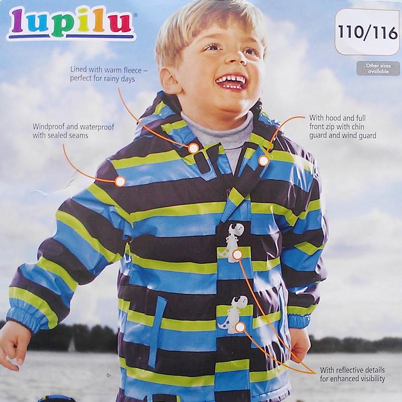 lupilu ребенка водонепроницаемая куртка плюс бархат
