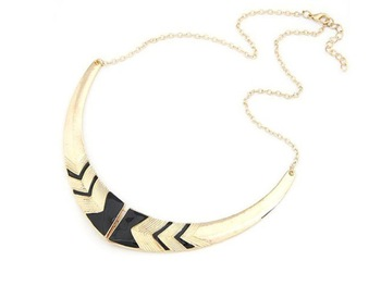 Min.Order $10(can mix) Retro Fashion Black Gold Tone Necklace Fake Collar Chain