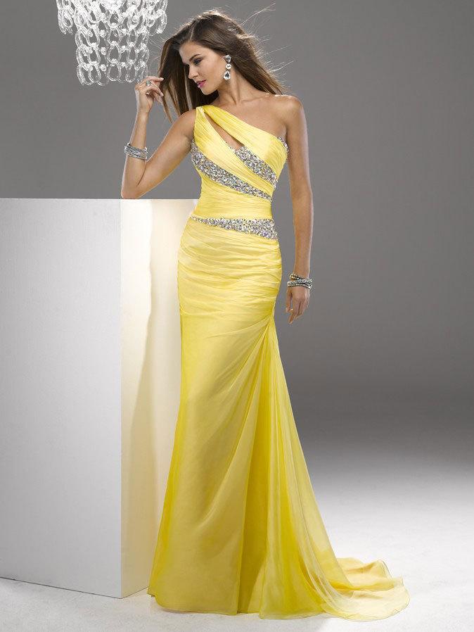 Yellow Prom Dresses Less Than $160 20