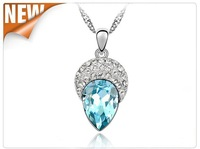 (Minimum order $10) 2014 new Small jewelry wholesale crystal necklace jewelry beauty women fashion