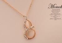 (Minimum order $10) 2014 new opal necklace chain clavicle Korean women short paragraph fashion jewelry pendants pendant