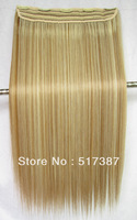 Heat Resistant Hairpieces Clips in Synthetic Hair Extension Highlight Hair Clip in Hair Extensions #27/613 Brown & Blonde Hair