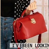 New designer handbag Fashion vintage all-match doctors bag portable female cross-body leather bags