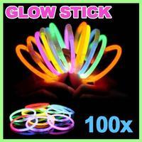 Super Mega Dual Color Glowsticks Glow Stick Light Bracelets Necklace Christmas Xmas Party Favor