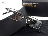2013 NEW ARRIVING Original P8127 Fashion Pure Titanium Myopia Glasses Frame Brand Ultra-Light TR-90 Half Frame Free Shipping