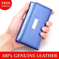 2013 New arrival key wallet cowhide 100% genuine leather women key holder case casual key chain