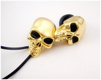 Free shipping metal skeleton king in-ear headphones ZTMYMY brand headphones, ZTMYMY metal bone headphones