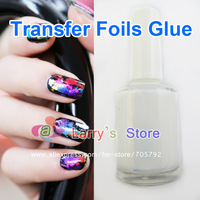 Free Shipping Hot Sale New 1 Pieces Nail Art Transfer Foils Glue Adhesive Gel For Wraps Sticker Acrylic Tips Decoration Aluminum