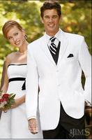FREE shipping!Best White wedding Groom weare Tuxedos Notch Lapel Groomsmen Men's Wedding suits for men custom made cheap dress