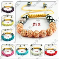 Hot Sale! Shamballa Bracelet Large wholesale   9 Clay Disco Balls Shambala Bracelets Jewelry Gift 150PCS/;ot