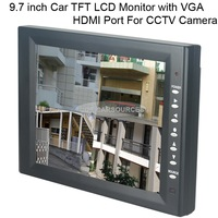 Surveillance 9.7 inch 1024*768 Resolution TFT LCD Monitor with VGA HDMI Port For CCTV Camera