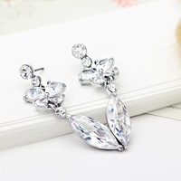 Neoglory Accessories Legend of Ice Engraving Zircon Oktant Rhinestone Platinum Plated Drop Earrings for Lady Free Shipping