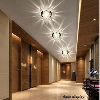 2013new modern crastal ceiling lampshade luminaire decoration wall lamp  for lobby/corridor/home/living room/bedroom lights