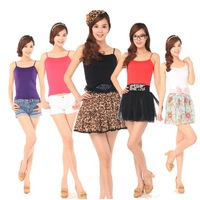 Summer thin vest sleepwear seamless sexy spaghetti strap vest female multicolor all-match basic vest