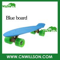 Free shipping blueboard Fish skateboard with pu wheels Banana board penny skateboard