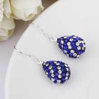 New Arrival!!Wholesale 925 Silver Earring,Disco Ball Bead,Cute Gift Shamballa Crystal Earring,Fasion jewelry SBE108