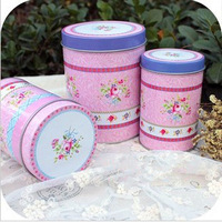 Lilac flower vintage sweet tin round tin set tin storage box mdash .