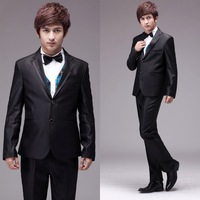 Wedding bridegroom black male formal dress fashionable casual groomed suit banquet men's clothing nx12