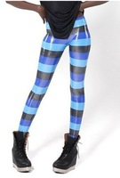 FREE SHIPPING 2013 new top hot sales women's fashion colorful striped snake print  MIlk Pants Sexy slim Leggings for women