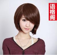 Novelty Wig girls short hair fluffy oblique bangs bobo pear repair jiafa