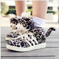spring children shoes star style leopard shoes children shoes trophonema medium cut cartoon male girls shoes